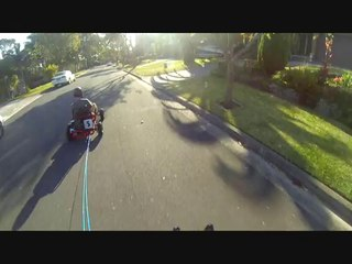 Skateboard Towing Fail