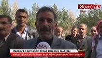 Mardin'de köylüler DEDAŞ binasına saldırdı