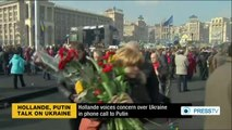 Hollande voices concern over Ukraine in phone call to Putin