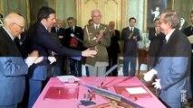 Roma - Giuramento del Ministro dell'Economia e delle Finanze, Pier Carlo Padoan (24.02.14)