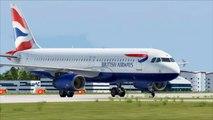 FSX British Airbus A320 London City Landing ( HD )