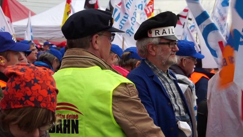 Les écologistes solidaires des cheminots européens