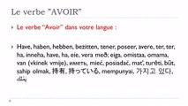Learn French # Verbe AVOIR = Passé récent