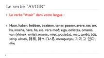 Learn French # Verbe AVOIR = Subjonctif = Plus-que-parfait
