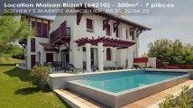 A louer - maison - Bidart (64210) - 7 pièces - 300m²
