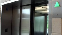Kone Glass Monospace MRL Elevators at Monk St  Parking Garage, Columbia, MO