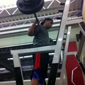 02/26/2014 531 c1 w1 250/5 squat. First time with knee sleeves.