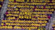 Flashmob à la mi-temps d'un match de basket aux États-Unis