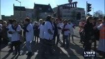 Manifestation du personnel de nuit du CHU du Mans