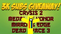 3K Subscriber Giveaway! (Crysis 2, Medal of Honor, Dead Space 3, and more!) Humble Bundle Giveaway