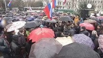An unidentified armed group takes control of government buildings in Ukraine's Crimea region