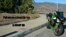 Kawasaki ZX-6R - Full Micron Exhaust Fly-Bys - Dual Cam Dolby Digital Surround Sound  (1080P HD)