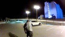 Riding skateboard down 4 story parking structure (GoPro Hero 2)