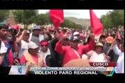 Cientos de manifestantes en Cusco intentaron tomar aeropuerto Velasco Astete