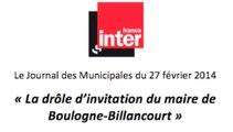 La drôle d'invitation du maire de Boulogne-Billancourt