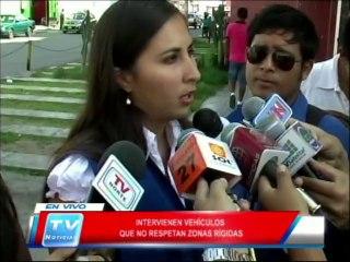 Chiclayo: Intervienen a vehiculos que no respetan zonas rigidas 10 04 14