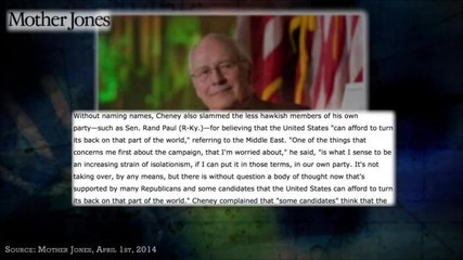 War Treats Dick Cheney Very Well