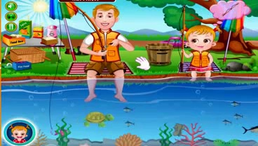 Baby Hazel Fishing Time With Uncle 3D – Babysitter Game Play 25 minutes