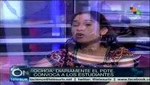 Maduro convoca diariamente a estudiantes opositores al diálogo: Ochoa
