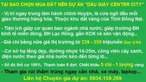 KHU ĐÔ THỊ DAU GIAY CENTER CITY 230TR/NỀN. LH 0934159269