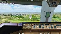 FSX Virgin Atlantic Boeing 747 Landing @ Manchester ( Cockpit ) ( HD )
