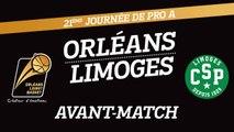 Avant-Match - J21 - Orléans reçoit le CSP Limoges