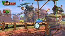 Donkey Kong Country: TF. Garganta mecánica 3-A - Gameplay - 100% puzzles y letras