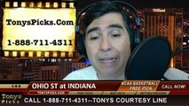 Indiana Hoosiers vs. Ohio St Buckeyes Pick Prediction NCAA College Basketball Odds Preview 3-2-2014