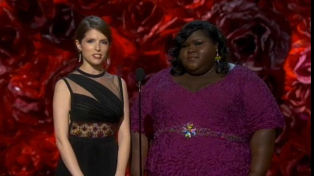 Anna Kendrick presenting at the Oscar for Best Film Editing - Oscars 2014