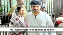 ND Tiwari accepts Rohit Shekhar as his son