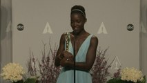 Oscars Winners Room: Lupita Nyong'o on Oscar win