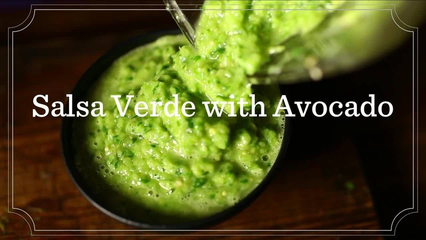 How To Make Salsa Verde with Avocado