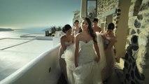Real Wedding: Penelope and William in Santorini, Greece