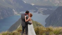 Real Wedding: Christine and Ben in Milford Sound, Fiorland