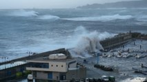 Fuerte TEMPORAL marino en Candás, Asturias. 3 marzo