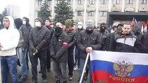 Pro-Russia Protest Outside Odessa Oblast Regional Administration