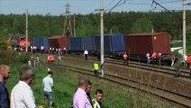 BUZZ NEWS - Grave accident de train pres de moscou au moins 5 morts