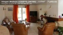 A vendre en viager - LODEVE (34700) - 7 pièces - 117m²