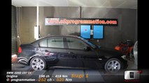 BMW 325D 197 CV, réel 198 CV @ 252 CV Reprogrammation moteur o2programmation