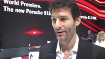 Mark WEBBER Interview (Porsche Team)