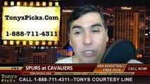 Cleveland Cavaliers vs. San Antonio Spurs Pick Prediction NBA Pro Basketball Odds Preview 3-4-2014