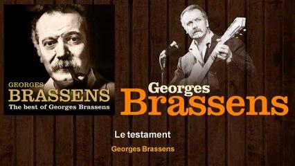 Georges Brassens - Le testament