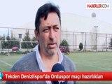 Tekden Denizlispor'da Orduspor maçı hazırlıkları