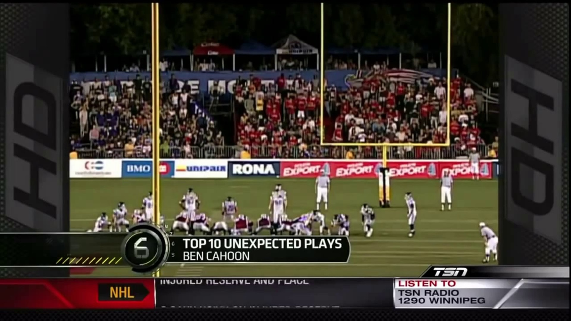 Sports Center Top 10 - Unexpected Sports Moments