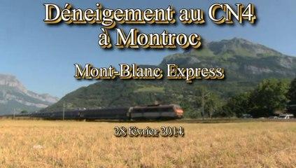 Déneigement au CN4 à Montroc