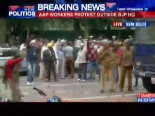 AAP, BJP supporters clash during protest