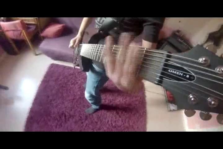 Meshuggah Demiurge 8 Strings Guitar Cover