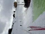 ski dans une piscine jump 180° crash
