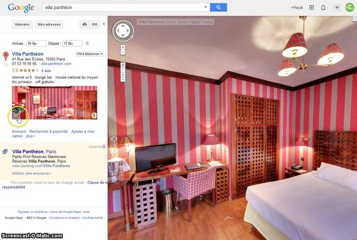 Visite Virtuelle Google pour Hotel