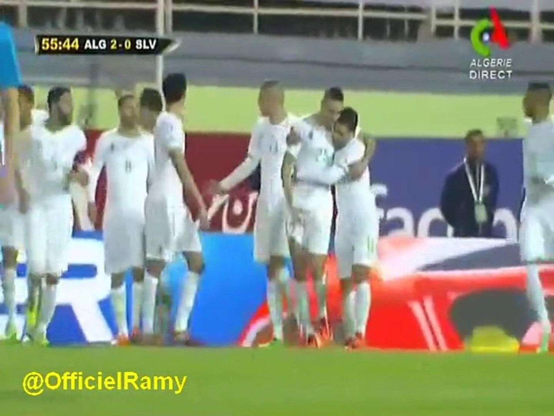 Algerie Slovénie 2-0 buts Soudani Taïder - Pelé assiste le match d'Algérie